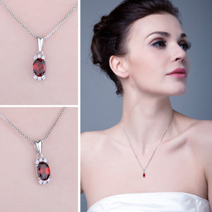 The Trendy Pendant in Ruby
