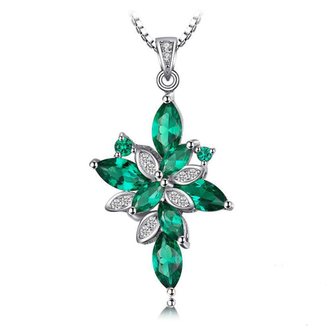 The Complicated Pendant in Emerald