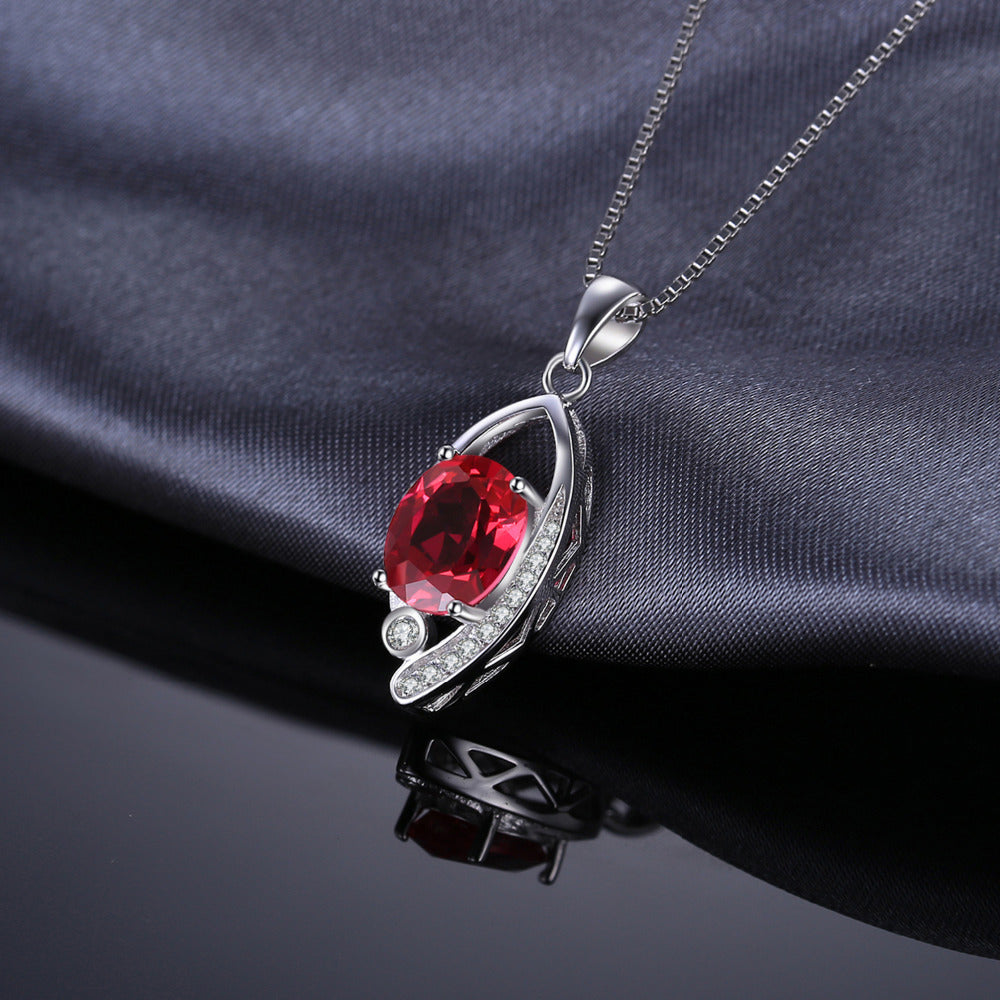 Eye of the Tiger Pendant in Ruby