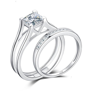 2ct Princess Cut Solitaire Anniversary Engagement Ring in 925 Sterling Silver