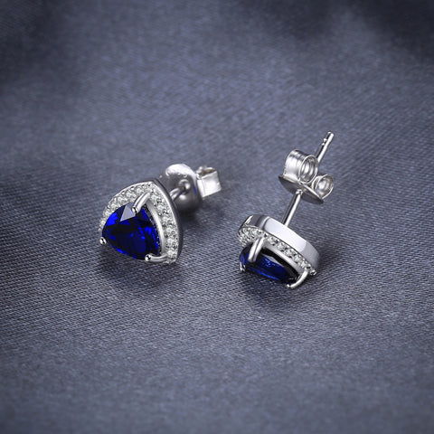 Image of The Shield Earrings in Sapphire