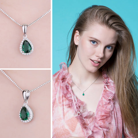 Image of The Teardrop Pendant in Emerald