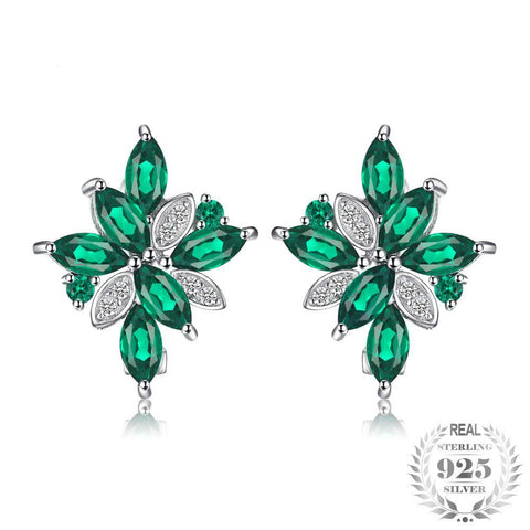 Image of The Marquise Earrings in Emerald