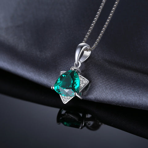 Image of Star of David Pendant in Emerald