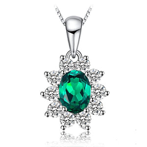 The Royalty II Pendant in Emerald