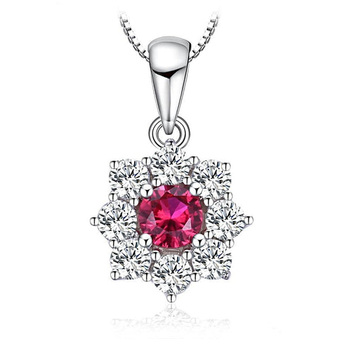 The Shimmer Pendant in Ruby