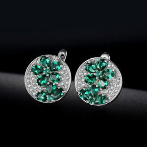 A Floral Party (earrings) in Emerald