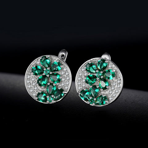 Image of A Floral Party (earrings) in Emerald