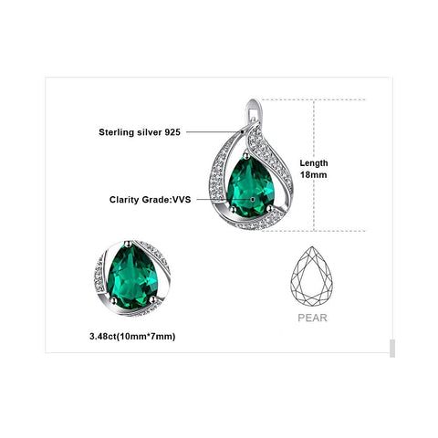 Image of The Waterdrop Earrings in Emerald