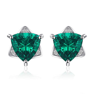 Star of David Earrings in Emerald