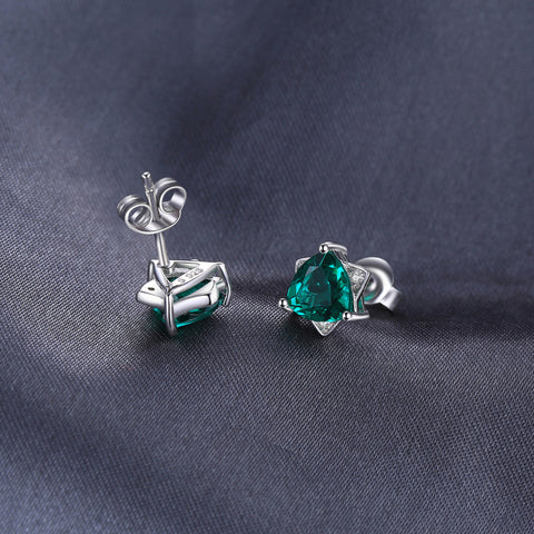 Image of Star of David Earrings in Emerald