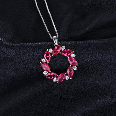 The Wreath Pendant in Ruby