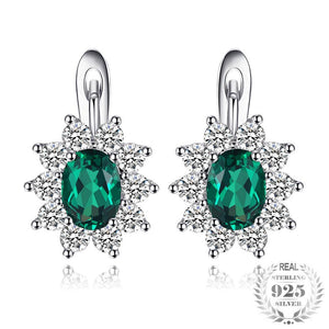 The Royalty II Clip Earrings in Emerald