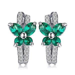 The Butterfly Earring in Emerald
