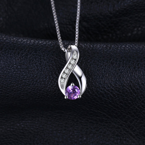 Image of 0.3ct Genuine Amethysts Anniversary Pendant Necklace