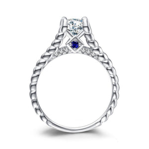 1.4ct Cubic Zirconia Engagement Ring in 925 Sterling Silver