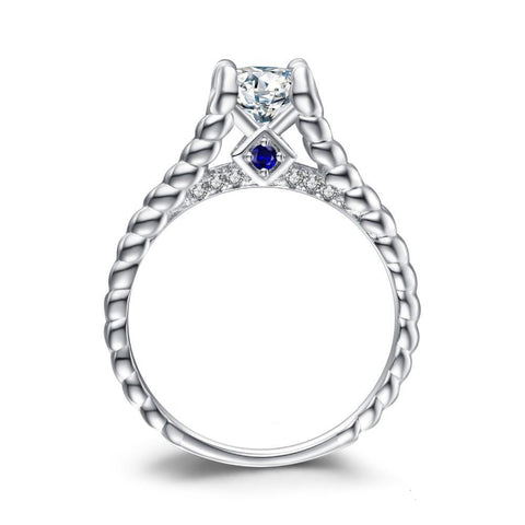 Image of 1.4ct Cubic Zirconia Engagement Ring in 925 Sterling Silver
