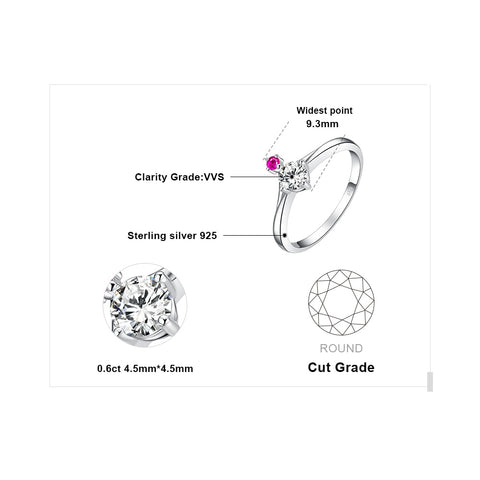 Image of Endless Love Cubic Zirconia Created Pink Sapphire Ring in 925 Sterling Silver
