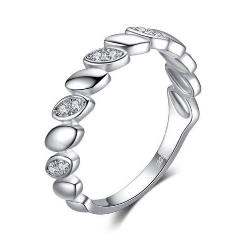 Image of Cubic Zirconia Band Ring For Women Genuine 925 Sterling Silver