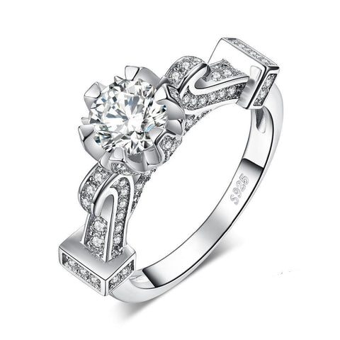 1.4ct Cubic Zirconia Solitaire Engagement Ring in 925 Sterling Silver