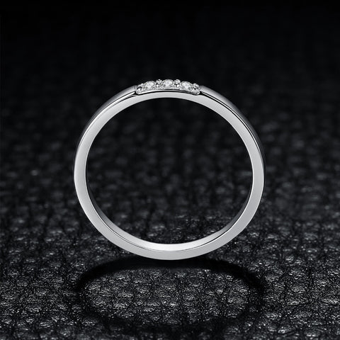 3 Stone Cubic Zirconia Wedding Ring in 925 Sterling Silver