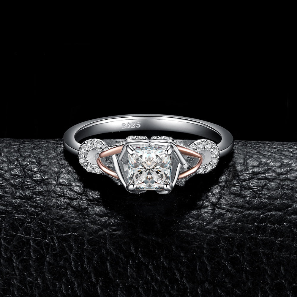Infinity 1.2ct Princess Cut Cubic Zirconia Ring in 925 Sterling Silver