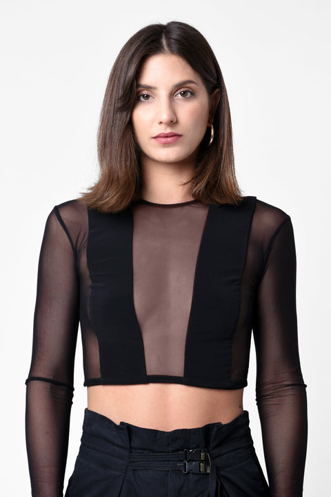 BY ANY MEANS CROPPED WOMEN'S TOP w/ BACK ZIP - CHAPTER V 34