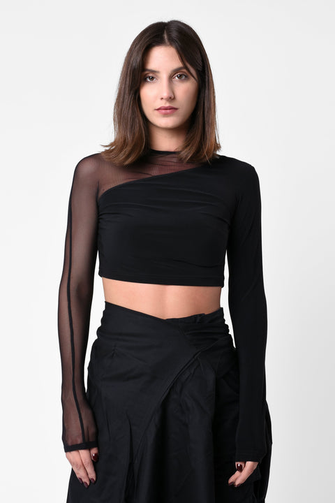 BY ANY MEANS CROPPED WOMEN'S TOP w/ SHOULDER ZIP - CHAPTER V 34