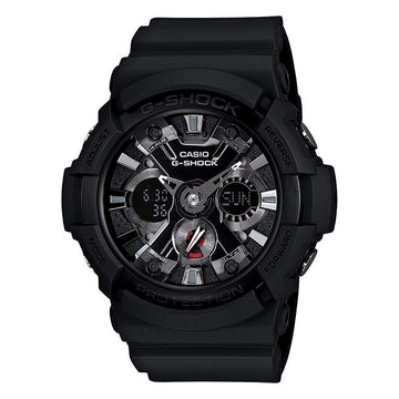 Black Casio G-Shock Anti-Magnetic Men's Analog Digital Watch GA201-1A men watch ana-digi Watches-Direct-SA