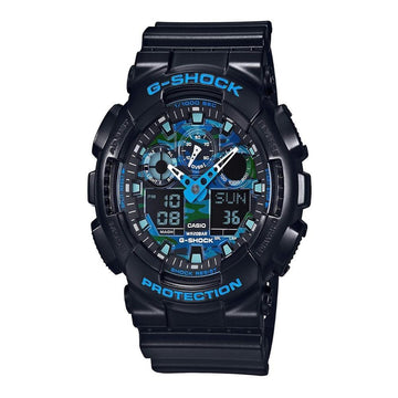 Casio G-Shock Black and Blue Ana-Digi Sports Watch GA100CB-1A men watch ana-digi Watches-Direct-SA