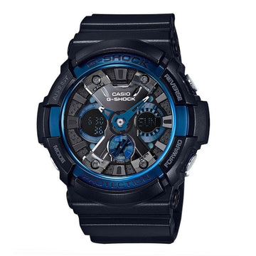Casio G-Shock Black and Blue Ana-Digi Watch GA200CB-1A men watch ana-digi Watches-Direct-SA