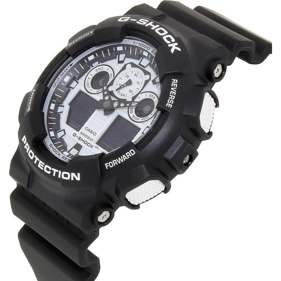 Casio G-Shock Digital Analog Black Sports Watch GA100BW-1A men watch ana-digi Watches-Direct-SA