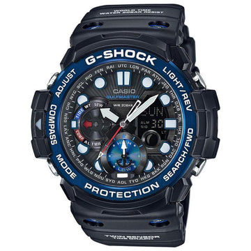 Casio G-Shock Gulfmaster Compass Thermometer Watch GN1000B-1A men watch ana-digi Watches-Direct-SA
