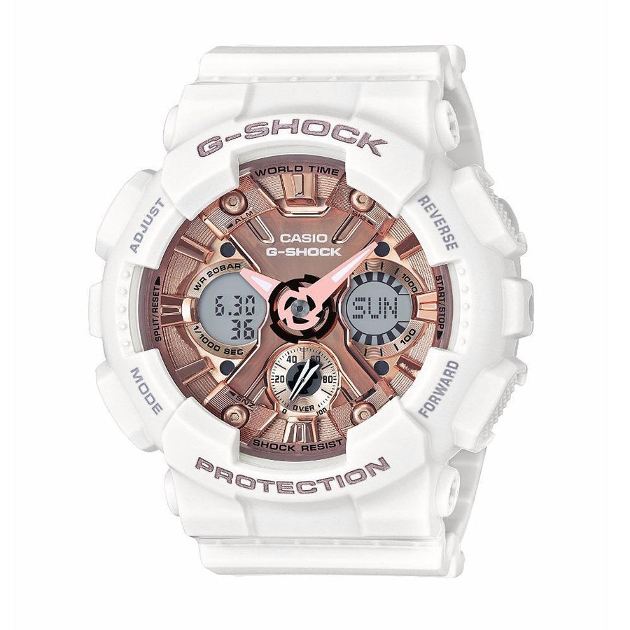 CASIO G-Shock S Series Rose Gold Dial Ladies Sports Watch women watch ana-digi Watches-Direct-SA