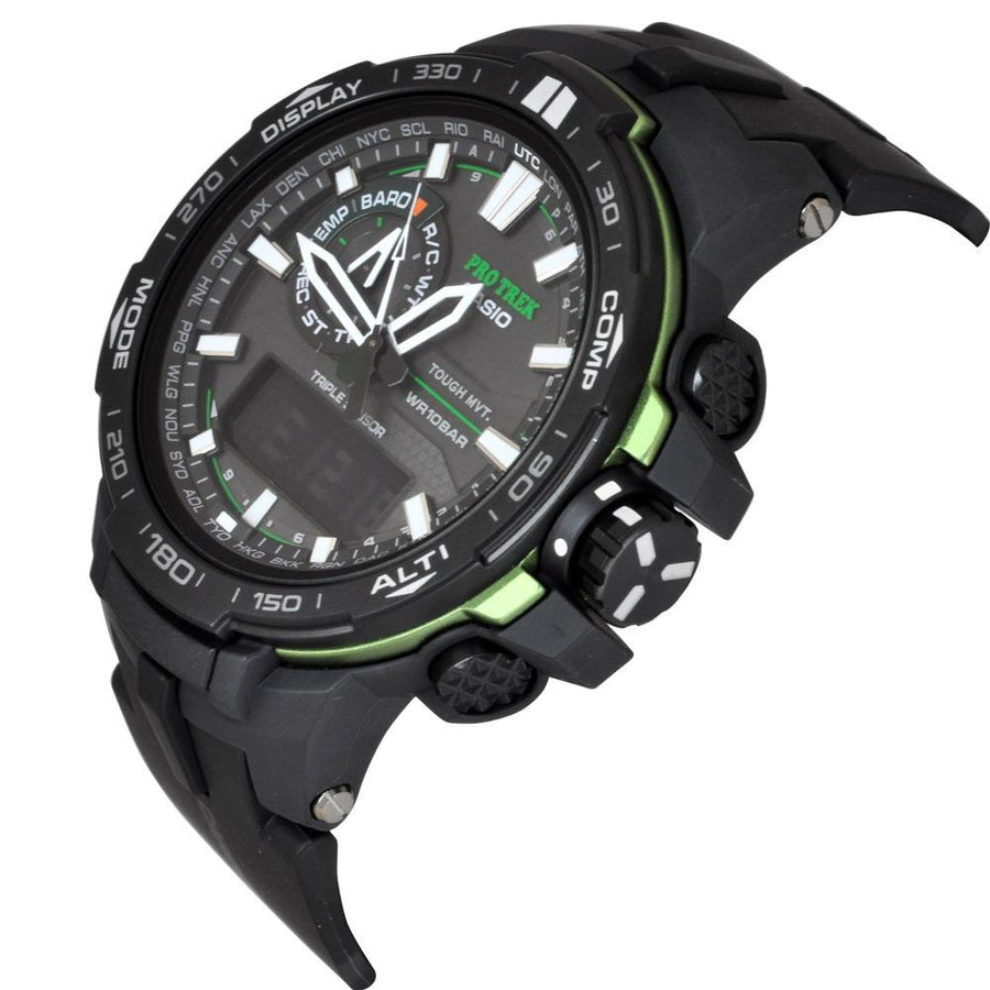 Casio Pro Trek Solar Power Atomic Anolog Digital Watch PRW6000Y-1A men watch ana-digi Watches-Direct-SA