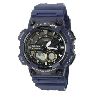 Casio World Time Telememo 30 Watch AEQ110W-2AV men watch ana-digi Watches-Direct-SA