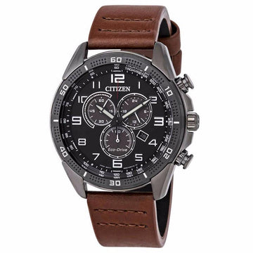 CITIZEN AR Eco-Drive Chronograph Black Dial Men's Watch Watches-Direct-SA