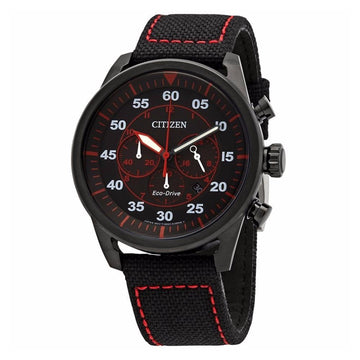 CITIZEN Avion Chronograph Quartz Black Dial Men's Watch men watch analog Watches-Direct-SA