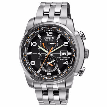 CITIZEN Eco Drive Black Dial Stainless Steel Men's Watch men watch analog Watches-Direct-SA