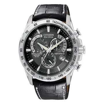 CITIZEN Eco Drive Perpetual Calendar Black Dial Men's Watch men watch analog Watches-Direct-SA