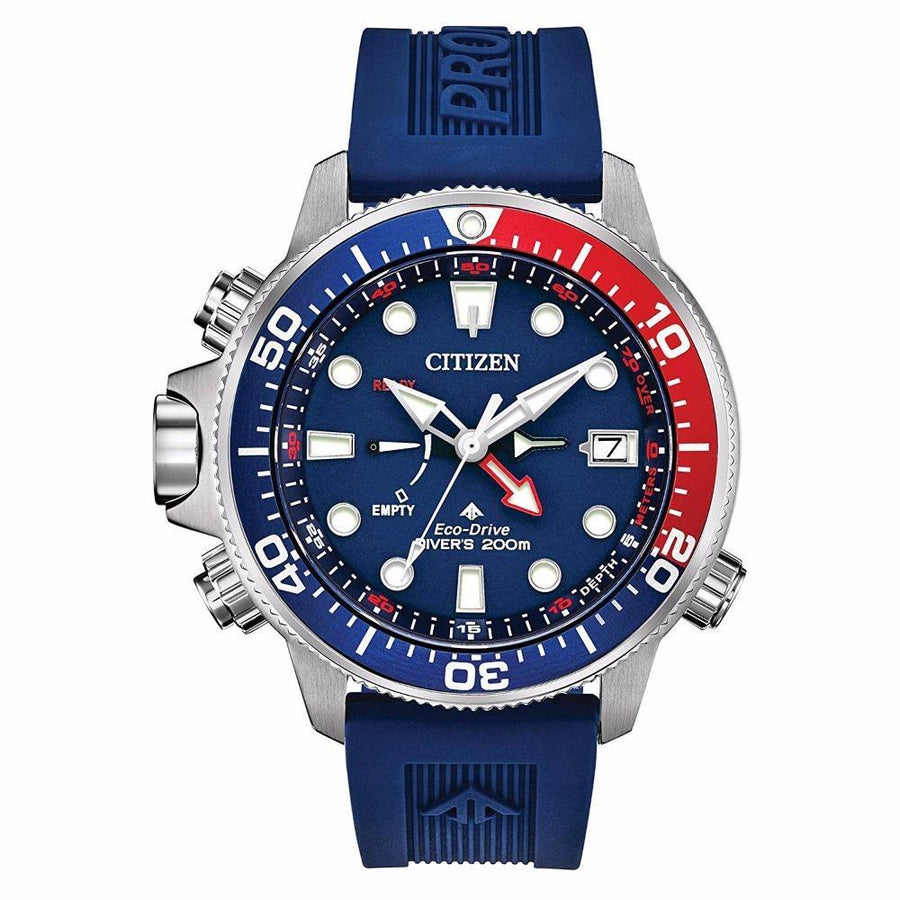 CITIZEN Eco-drive Promaster Aqualand Blue Red men watch analog Watches-Direct-SA