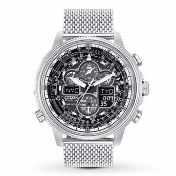 CITIZEN Navihawk UTC Eco-Drive Chronograph Men's Watch men watch ana-digi Watches-Direct-SA