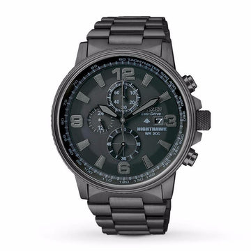 CITIZEN NightHawk EcoDrive Chronograph Men's Watch men watch analog Watches-Direct-SA
