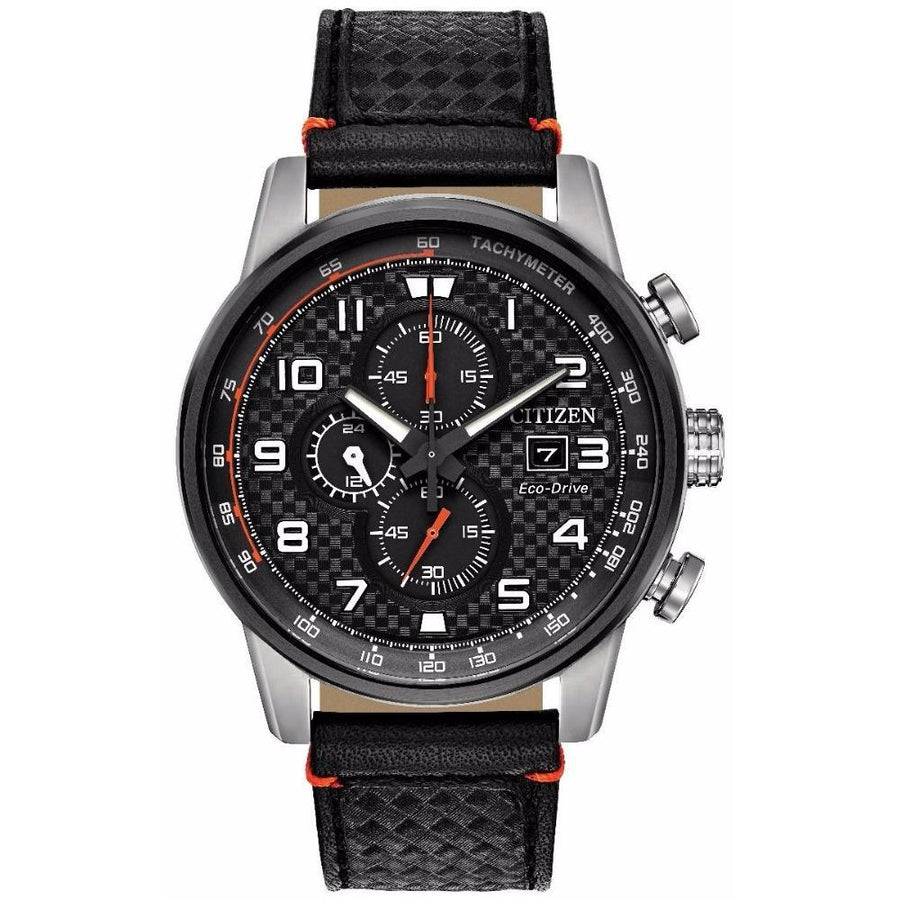 CITIZEN Primo Chronograph Black Dial Men's Watch men watch analog Watches-Direct-SA