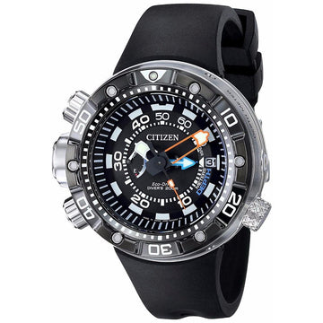 CITIZEN Promaster Aqualand Depth Meter Black Dial Men's Watch men watch analog Watches-Direct-SA
