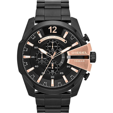 DIESEL Chief Chronograph Black Dial Stainless Steel Men's Watch men watch analog Watches-Direct-SA