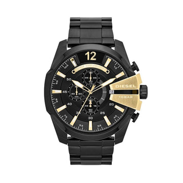 DIESEL Mega Chief Chronograph Black Dial Black Ion-plated Men's Watch men watch analog Watches-Direct-SA