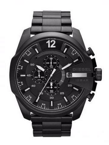 DIESEL Mega Chief Chronograph Black Dial Men's Watch men watch analog Watches-Direct-SA