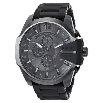 DIESEL Mega Chief Chronograph Quartz Black Dial Men's Watch men watch analog Watches-Direct-SA