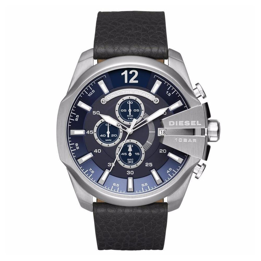 DIESEL Mega Chief Navy Blue Dial Men's Chronograph Watch men watch analog Watches-Direct-SA